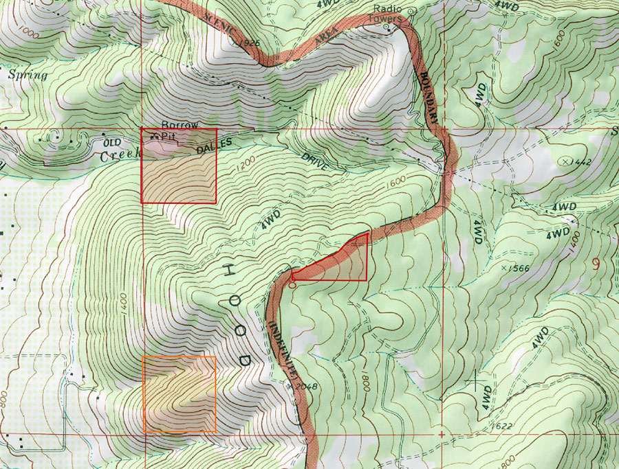Red River Gorge Topographic Map.Hood River Mt Trail Closed Oregon Hikers